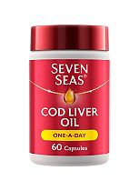 Seven Seas One-A-Day Pure Cod Liver Oil - 60 Capsules