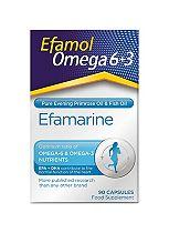 Efamol Omega 3+6. EFAMARINE  Omega 3+6 . 90 capsules