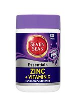 Seven Seas Zinc Plus Vitamin C  - 30 chewable fruit burst Capsules with sweetener