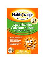 Haliborange Multivitamins, Calcium & Iron - 30 Tablets