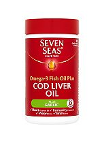 Seven Seas one a day pure cod liver oil plus garlic - 90 capsules