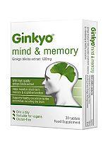 Ginkyo Mind & Memory Ginkgo Biloba 120mg One a Day 30 Tablets