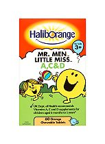 Haliborange Vitamins A,C & D Orange Flavour - 60 Chewable Tablets