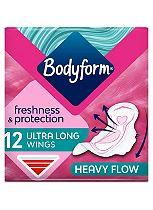 Bodyform Ultra Towels Long Wings x12