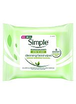 Simple Kind To Skin Facial Cleansing Wipes - 1 x 25 Wipes