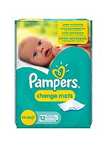 Pampers Change Mats - 1 x 12 Pack