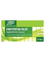 Boots Pharmaceuticals Constipation Relief - 12 Suppositories