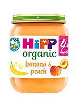 HiPP Organic Banana & Peach Dessert 4+ Months 125g