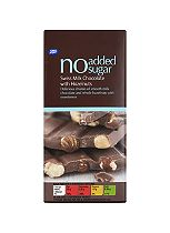 Boots No Added Sugar Swiss Milk Chocolate with Hazelnuts 100g