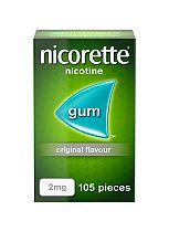 Nicorette Original 2mg Gum - 105 pieces