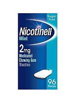 Nicotinell Mint 2mg Chewing Gum Regular Strength - 96 pieces