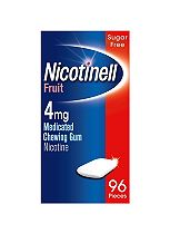 Nicotinell Fruit 4mg Medicated Chewing Gum Nicotine Extra Strength - 96 Pack
