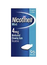 Nicotinell Mint 4mg Medicated Chewing Gum Nicotine (96 Pieces)
