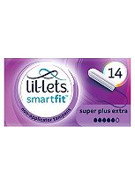 Lil-Lets Non-Applicator Tampons Super Plus Extra 14 Pack