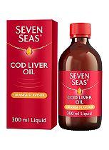 Seven Seas Cod Liver Oil Plus Omega-3 Fish Oil Orange Flavour 300ml