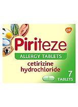 Piriteze Allergy Tablets - 7 Pack