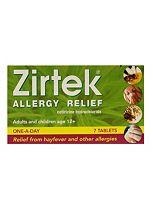 Zirtek Allergy - 7 Tablets