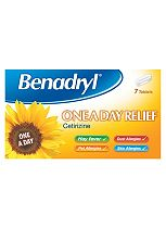 Benadryl One A Day Allergy Tablets 7 Pack