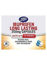 Boots Ibuprofen Long Lasting 200mg - 16 Capsules
