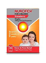 Nurofen For Children Singles Strawberry Flavour - 16 Sachets