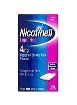 Nicotinell liquorice 4mg medicated chewing gum