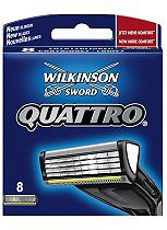 Wilkinson Sword Quattro Replacement Blades 8 Pack