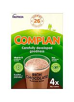 Complan Chocolate Flavour Nutritional Drink 4 x 55g