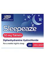 Boots Pharmaceuticals Sleepeaze 50mg Tablets - 20 tablets