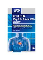 Boots  Acid Reflux 10 mg Gastro-Resistant Tablets - 14 Tablets
