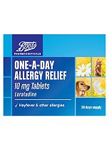 Boots  one-a-day allergy relief 10mg tablets (30 days supply)