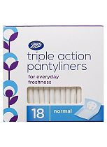 Boots Triple Action Pantyliners Normal 18 Pack