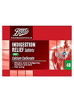 Boots Indigestion Relief Tablets Fruit - 48 Tablets