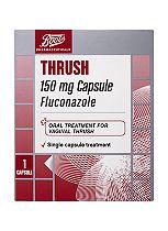 Boots Pharmaceuticals Thrush 150mg Capsule (Fluconazole)  - 1 capsule
