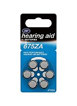 Boots Hearing Aid Batteries - Size 675 - 6 Pack