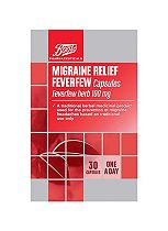Boots Migraine Relief Feverfew Herb 100mg - 30 Capsules