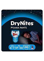 Huggies DryNites® Pyjama Bed Wetting Pants Boys 4-7 Years - 10 Pants