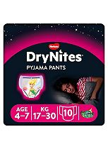 Huggies DryNites® Pyjama Bed Wetting Pants Girls 4-7 Years - 10 Pants