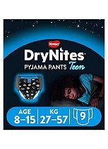 Huggies DryNites® Pyjama Bed Wetting Pants Boys 8-15 Years - 9 Pants