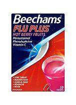 Beechams Flu Plus Hot Berry Fruits - 10 Sachets