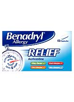 Benadryl Allergy Relief - 12 Capsules