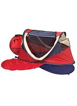 NSA UV Deluxe Travel Cot  with Mattress - Red