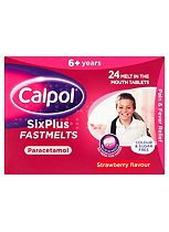 Calpol SixPlus Fastmelts Strawberry Flavour 6+ Years 24s