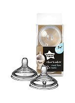 Tommee Tippee Closer to Nature Easi-vent Medium Flow Teats 3M+