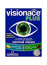 Vitabiotics Visionace Plus Omega-3 Dual Pack 56 Tablets/Capsules>