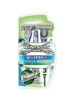 Wilkinson Sword Quattro Titanium Disposable Razors 3 pack