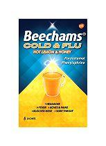 Beechams Cold & Flu Hot Lemon and Honey - 5 Sachets