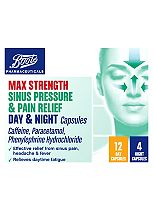 Boots Max Strength Sinus Pressure & Pain Relief Day & Night - 16 Capsules