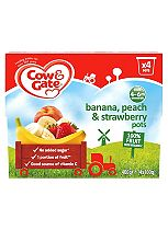 Cow & Gate Banana, Peach & Strawberry Fruit Pots 4x100g