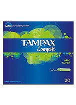 Tampax Compak Tampons Super 20 Pack