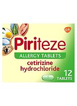 Piriteze Allergy Tablets - 12 Pack